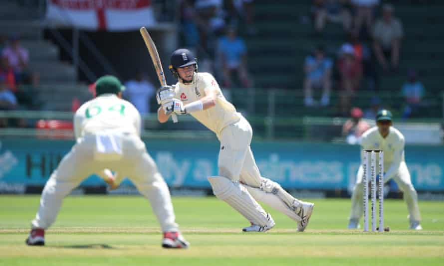 Zak Crawley picks up runs on the first day of the third Test against South Africa.