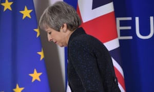 Theresa May departs after press conference in Brussels