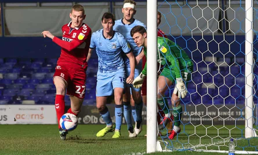 George Saville turns in a late winner for Middlesbrough against Coventry.