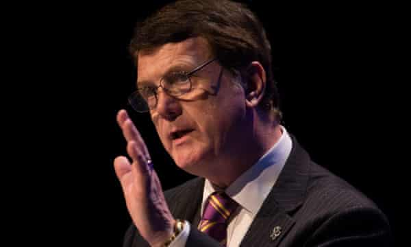 Gerard Batten, the Ukip leader, speaks at the party's annual conference n Birmingham in September 2018