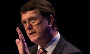 Ukip's leader, Gerard Batten, giving a speech
