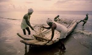 Traditional fishermen's craft in Tamil Nadu.