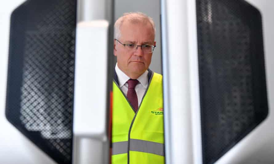 Scott Morrison visits the hydrogen research facility Star Scientific in NSW on Wednesday