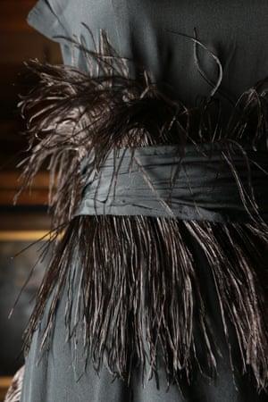Dress (1919) by Gabrielle 'Coco' Chanelsilk (chiffon), feathers