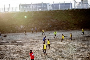 Playing football in the buffer zone