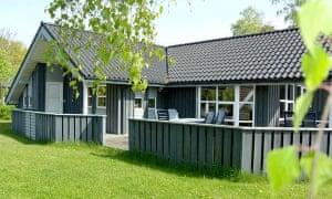 A typical beach cottage in Saksild.