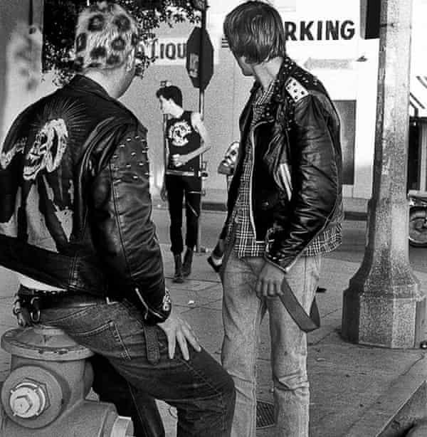 Punks on Melrose Avenue, Los Angeles, 1984.