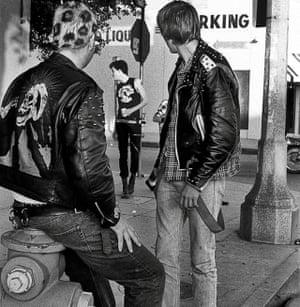 Punks on Melrose Avenue, Los Angeles, 1984