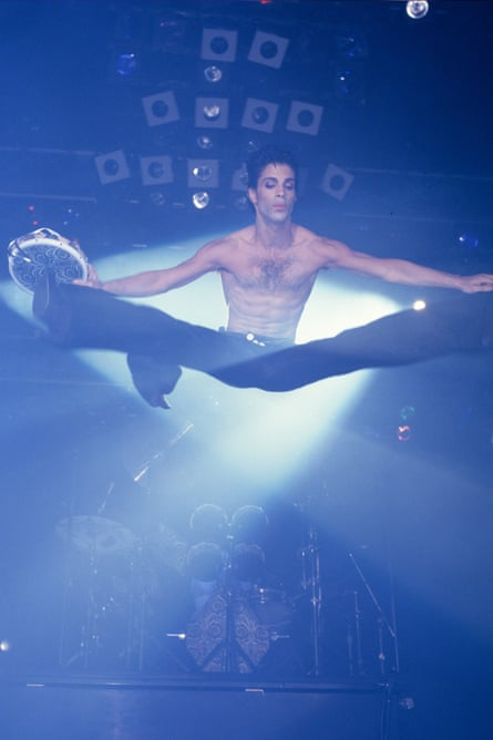 Prince lifts off in 1986.