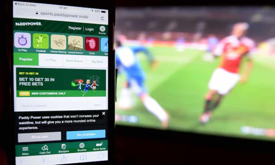 An online gambling app