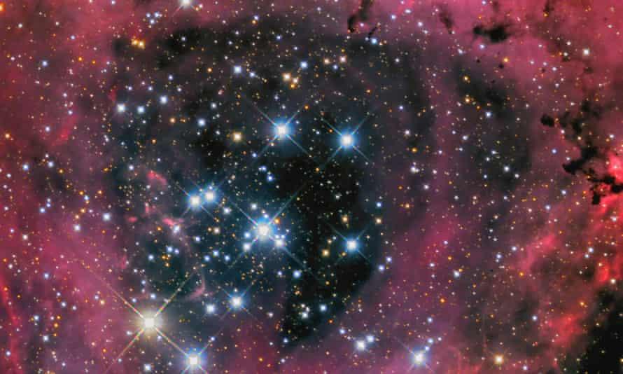 Stars shining in the Rosette Nebula
