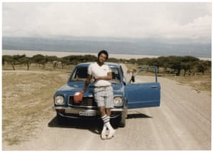 Terefe, soaking it all in during a road trip to Langano in the 80s