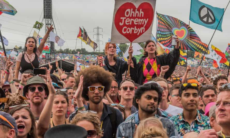 Jeremy Corbyn was a hit at Glastonbury in June after success with the youth vote in the general election earlier that month.