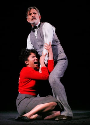 Alone in the dark … Martin Turner as Dr Montague and Chipo Chung as Theodora.