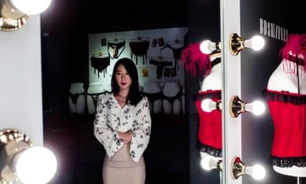 Eura Kwak, a former nurse, in Pleasure Lab, the sex shop she co-founded in Seoul's Dosan neighbourhood.
