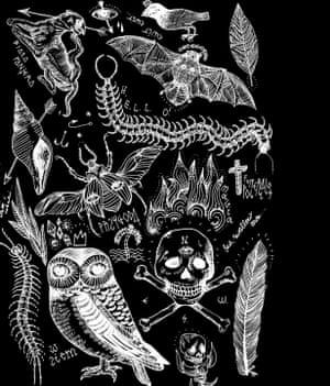 Polish tattoo designer Izabella Dawid Wilk draws influence from lyrics and nature in her gentle gothic designs.