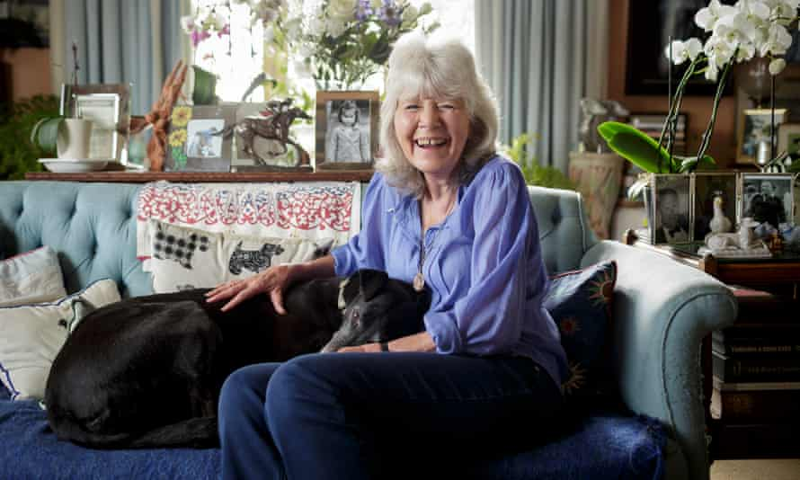 Writer Jilly Cooper at home in Gloucestershire.
