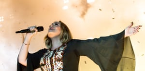 Adele at Glastonbury on Saturday night