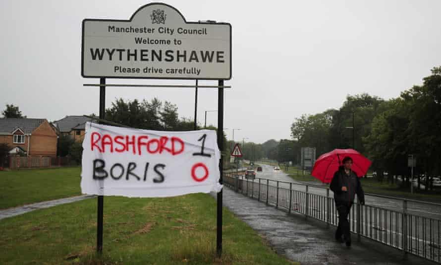 A banner in Wythenshawe