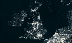 Britain lit up at night