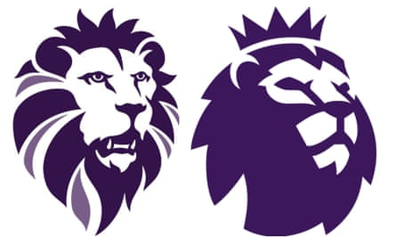 The new Ukip logo (left) is very similar to that of the Premier League