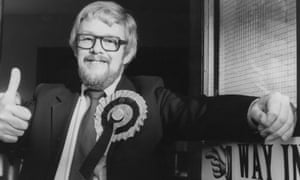 Bill Pitt at a polling station in Croydon on the day of the 1981 byelection, which he won.