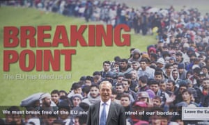 Farage launches a Ukip migration poster during the EU referendum campaign