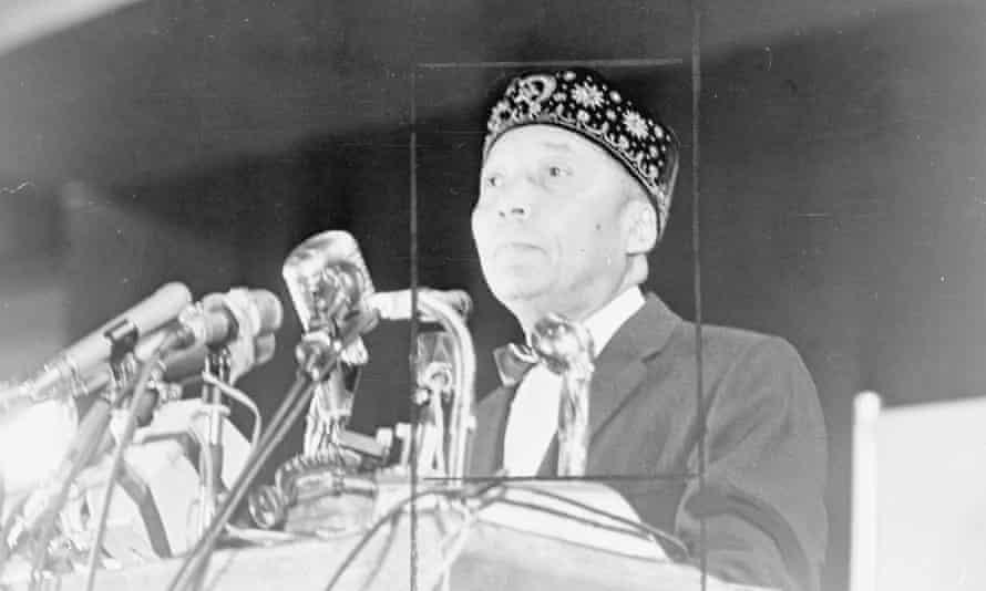 Nation of Islam leader Elijah Muhammad in 1964.