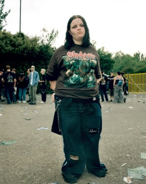 Teenager in a Slipknot T-shirt.