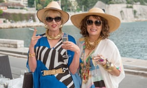 Bolly for them ... Joanna Lumley and Jennifer Saunders in Absolutely Fabulous: The Movie.