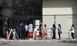 Voters enter polling stations in Florida.