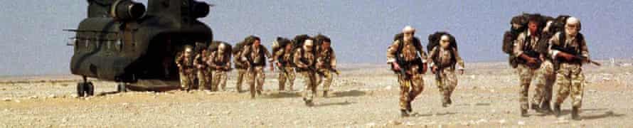 Royal Marine Commandos, October 1999.