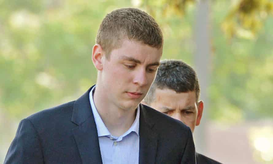 Brock Turner makes his way into the Santa Clara Superior Courthouse in Palo Alto, Calif. Turner was given a six-month jail term after sexually assaulting an unconscious woman.
