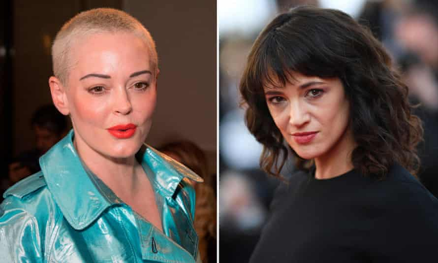 Rose McGowan, left, and Asia Argento.