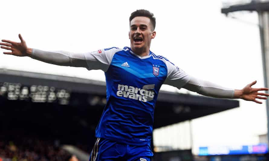 Could Tom Lawrence, here celebrating a goal for Ipswich, help to fill the gap left at Leicester if Riyad Mahrez leaves?