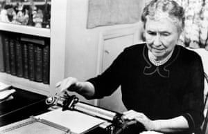 Helen Keller: an influential contemporary who wrote in defence of eugenics.