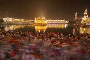 Amritsar, IndiaDevotees throng the premises in large numbers at the specially illuminated Golden Temple, the holiest of Sikh's religious sites on the occasion of the 485th birth anniversary of the fourth Guru or the master of the Sikhs Sri Guru Ramdas Ji