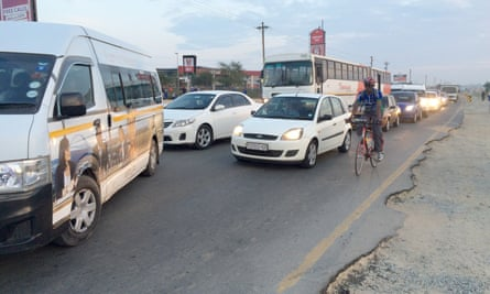 Lovemore cycles to work from Diepsloot, an informal area in the north of Johannesburg