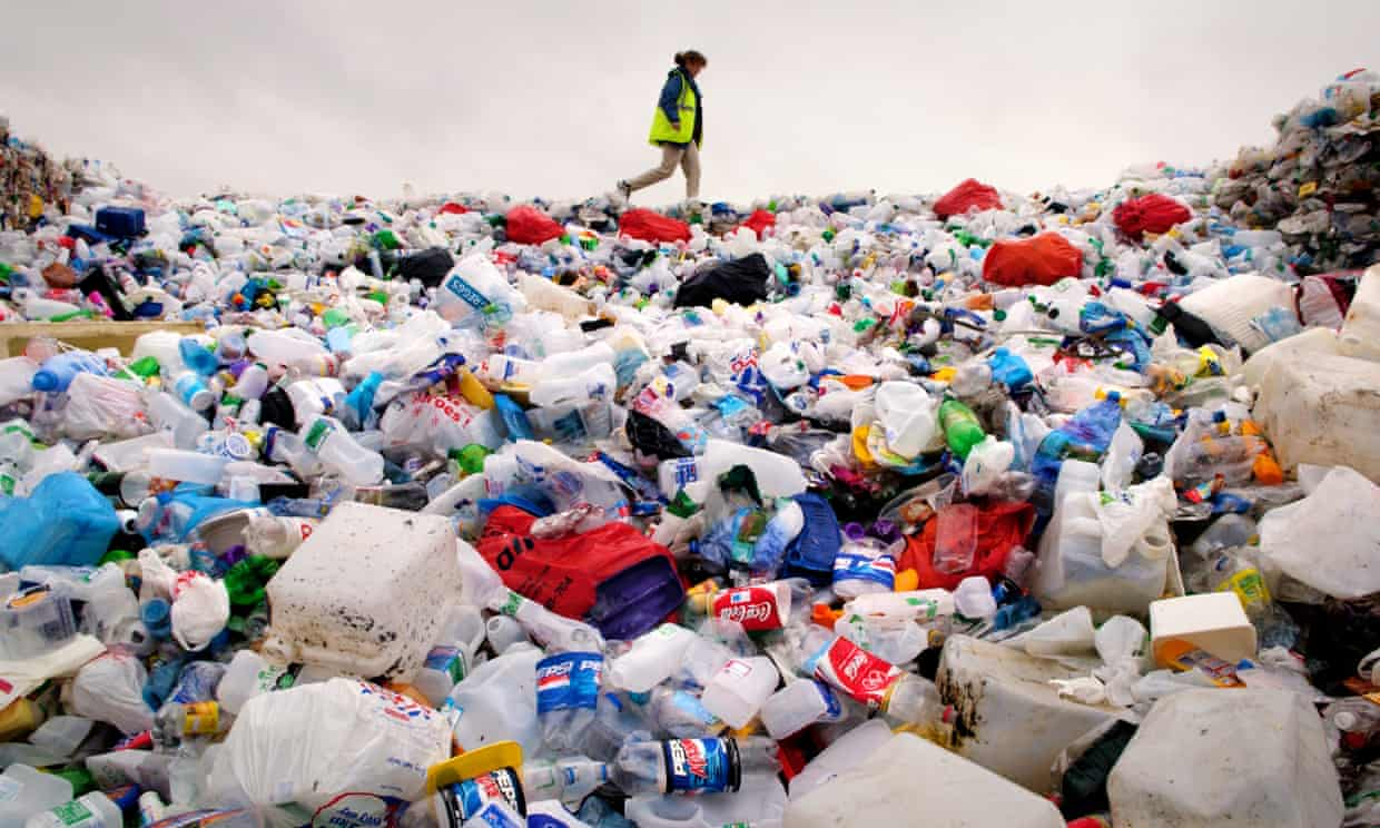 Plastic bottles makes up almost one sixth of the world's annual plastic production. Photograph: Jeff Morgan/Alamy Stock Photo