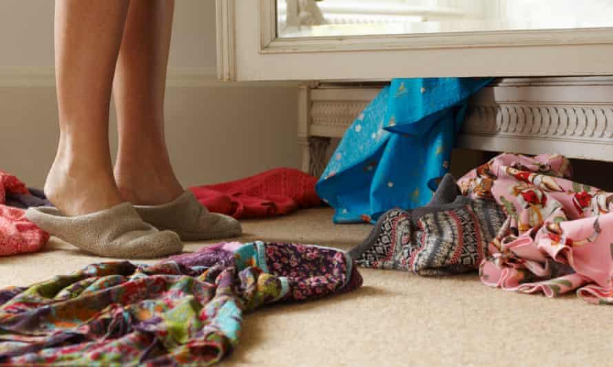 woman looking into wardrobe