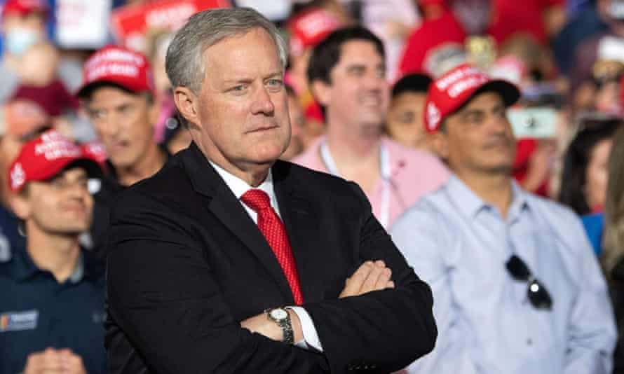 Donald Trump's final White House chief of staff, Mark Meadows, in October 2020.