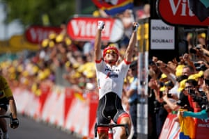 Degenkolb celebrates winning the stage.