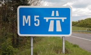 M5 motorway sign