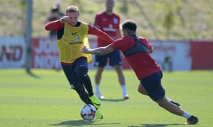 England's Wayne Rooney prepares for their World Cup 2018 qualifier against Slovakia.