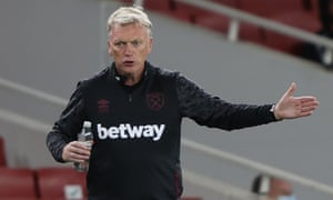 David Moyes tested positive for Covid-19 and had to leave London Stadium before the game against Hull.