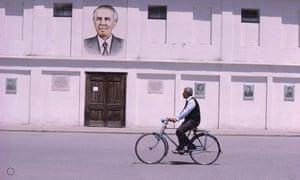 A portrait of Albania's Communist dictator Enver Hoxha in 1980.