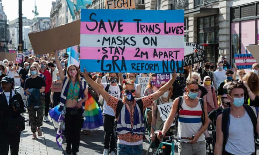 Trans Pride protest march in London