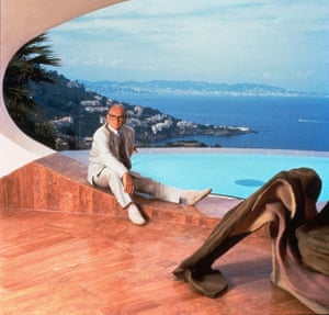Cardin is seen at his Palais Bulles, Antibes, France in 2001