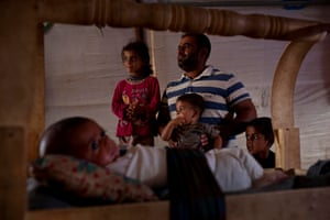 Khalo Hussein Mohammed has five children at a camp for displaced people near Erbil