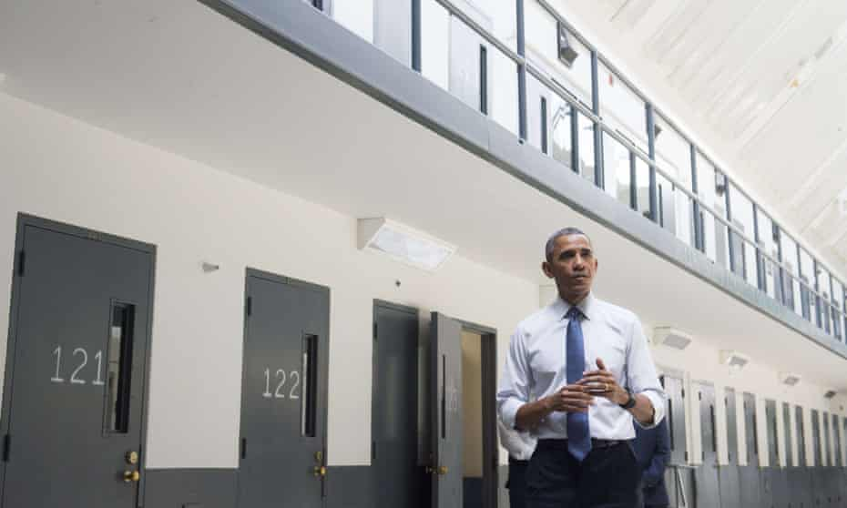 As part of his reform drive, Barack Obama became the first sitting US president to visit a federal prison